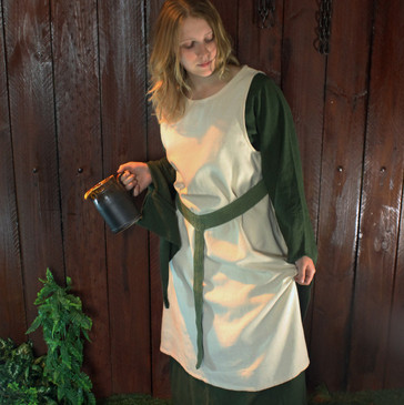 Simple Linen-Coloured Peasant's Overdress
