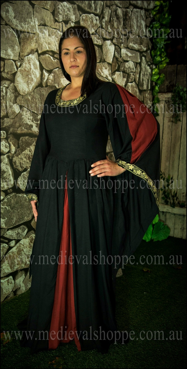 Red/Black Medieval Dress Australia