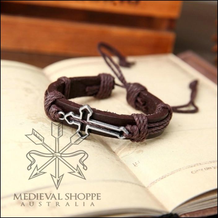 Gothic Cross Bracelet