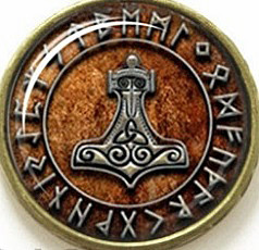 Rune Circle Keyring