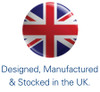 Designed, Manufactured and Stocked in UK
