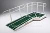 Jetmarine Corner Platform with Standard Access Ramp (Single Handrail)