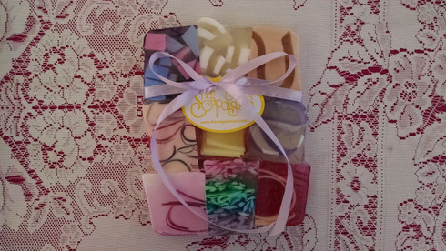 Floral Variety Pack. Nine of your favorite floral scented soaps in half-slice size.