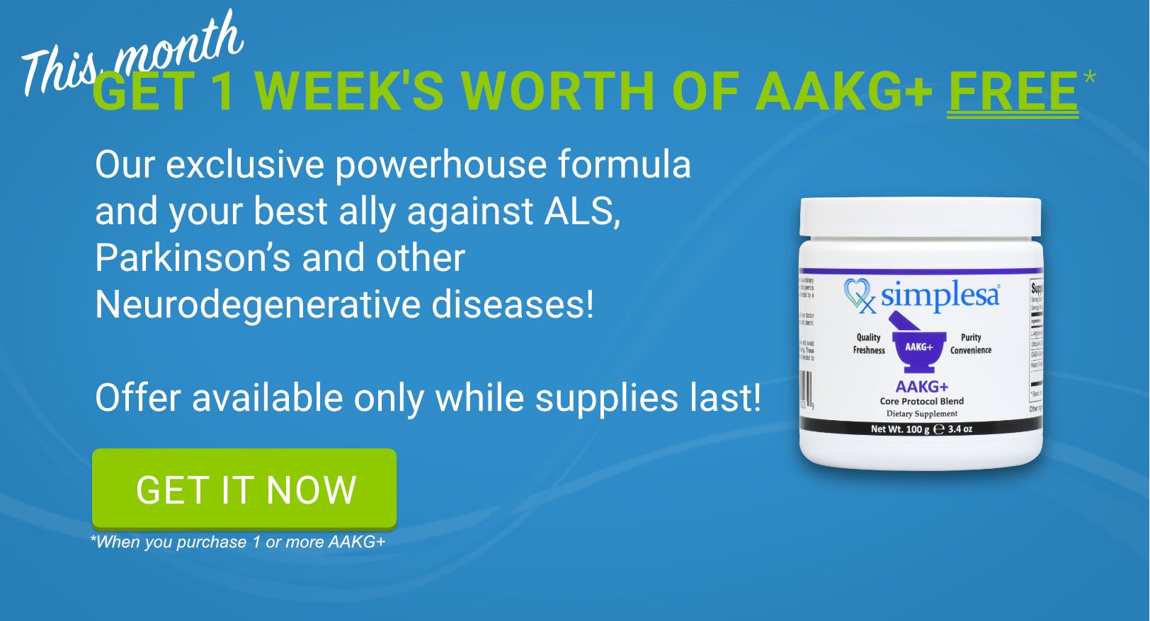 FREE AAKG+ Offer