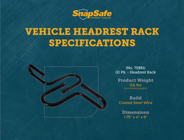 SnapSafe Vehicle Headrest Gun Rack