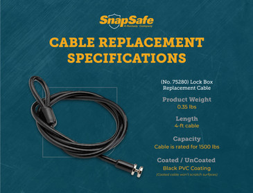 SnapSafe Upgraded Lock Box Replacement Cable
