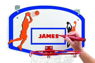Over the Door Basketball Hamper with Metal Ring & Backboard