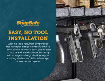SnapSafe Handgun Hangers, Storage and Safety Solution for Handgun Storage