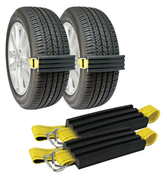 """Trac-Grabber - The """"Get Unstuck"""" Traction Solution for Cars/Trucks/SUV's & XL's - Prevents Slipping in Snow, Sand & Mud - Chain or Snow Tire Alternative"""