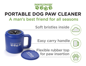 Paw Plunger for Dogs - Portable Dirty Paw Washer for Dogs – Ideal for any Dog – Cleaner Pet Paws to Save Floors/Furniture/Carpet/ Vehicle from Muddy Paws