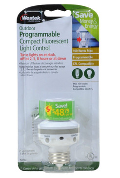 Westek SLC6CBC-4 100W Programmable Screw-In Light Control, White (1 Pack)