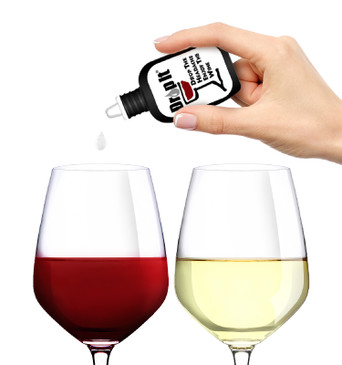 Drop It Wine Drops - Natural Wine Sulfite Remover and Tannin Reducer - Drop the Red Wine Headache & Enjoy Your Wine - Forget Wands or Filters, Each Discrete Bottle Treats 55 Wine Glasses