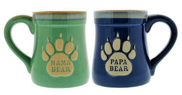 Mama & Papa Bear Ceramic Funny Coffee Mug, Nobody Messes with My Cubs, Large 18 oz Mug, Gifts for Mom & Dad