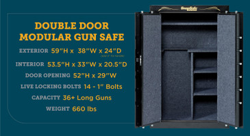 SnapSafe Super Titan Double Door Modular Safe, Storage for Firearms & Valuables for Home or Office