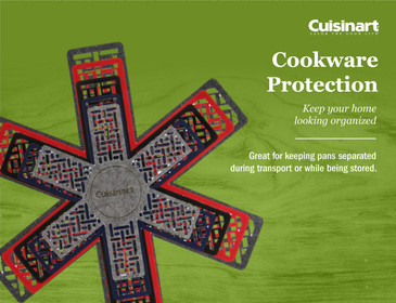 Cuisinart Pot and Pan Protectors- 5pk, Prevents Cookware from Getting Scratches and Scrapes, Thick Felt Cookware Protectors, Pot Protector Pads Protecting from Damage during Storage