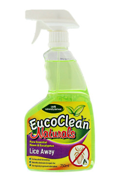 All Natural Eucoclean Lice Away or Bed Bug/Flea Spray Bottle, 750mL
