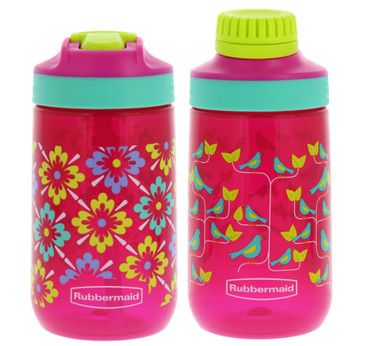 Rubbermaid Kids Water Bottle Sip, Chug - Leak-Proof Reusable Container - Help Keep Your Kids Hydrated - BPA-Free - Equipped with Protective Spout Cover - 14 Ounces - 2 Pack