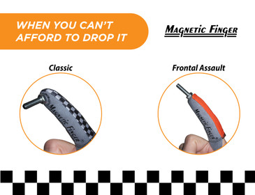 Magnetic Finger, Finger Magnet Glove - Magnetic Finger Sleeve Holds Any Small Ferrous Metal Object on your Fingertip - Ideal for Tight Spots - Use at Home or on the Job