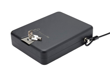 Hornady Steel Keyed TriPoint Lock Box, Portable Gun Lock Box, Approved by TSA for Air Travel- XL, 10 x 8 x 3 inches- 98152