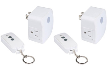 Westek Remote Control Outlet for Indoor Devices - Create a Wireless Outlet for Lamps, Stereos and Other Household Appliances - Signal Works Up To 100 Feet Away - RFK1606LC