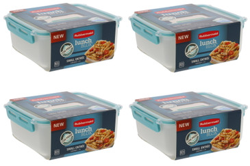 Rubbermaid LunchBlox Leak Proof Small Entree Container with Lid -BPA Free, Stackable Lunch Box with Airtight Seal and Durable Latches-Great for Home, School Lunches, On the Go - 2.6 Cup (4 Pack)