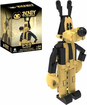 Bendy and the Ink Machine Boris the Wolf Buildable Figure, 202 Pieces - Collect and Build the Iconic Bendy Toys