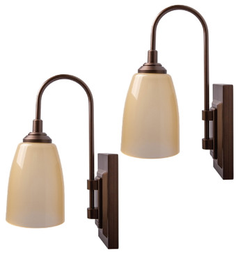 Westek Battery Operated Wall Sconces – 2 Pack – Easy Wireless Installation, 4 Hour Auto Shut-Off – 2 Brightness Levels – 100 Lumen Battery Operated Wall Light