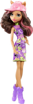 Monster High Clawdeen Wolf Girl Doll -Inspired Monster High Doll Clothes - Fun Dress Up Halloween Toy - Collect all Her Monster Doll Friends (Box Damaged)