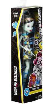 Monster High Frankie Stein Girl Doll - Wearing Emoji-Inspired Monster High Doll Clothes - Fun Dress Up Halloween Toy (Box Damaged)