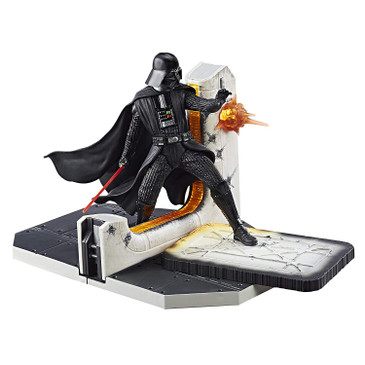 Star Wars Black Series Darth Vader Table Centerpiece - Action Packed Still Display of a Classic Scene - Multiple Light Up Parts - 2 AAA Batteries Not Included - Eye-Catching Decoration