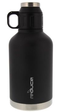 REDUCE Stainless Steel Vacuum Insulated Growler, 64oz - Large Beer Growler with Leak Proof Dual Opening Lid - Enjoy Your Favorite Hot or Cold Beverages from Camping to Parties and Tailgating