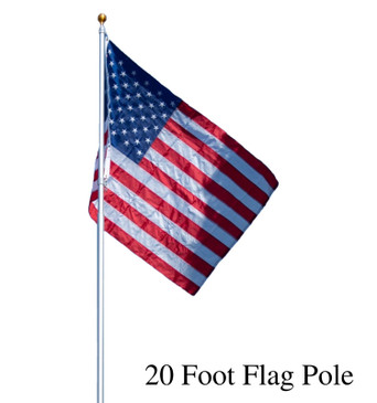 Titan Telescoping Flag Poles, Heavy Duty Aluminum Flag Pole Kit, Kit Includes, Telescoping Flagpole, Hardware to Hang 2 flags, American Flag, and Installation Instructions