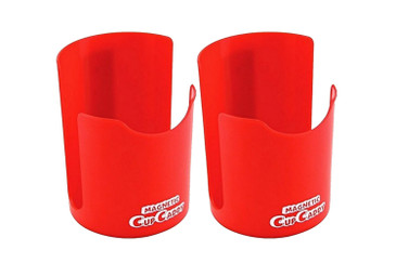 Magnetic Cup Holder - Hold Hot or Cold Beverages: Soda Can, Coffee Cup, Tumbler, Water Bottle, and More - Powerful Magnets Keep Caddy Attached to Any Magnetic Surface 2pk