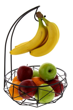 Cuisinart Stainless Steel Fruit Basket with Banana Hanger - Perfect Fruit Storage Basket with Banana Holder to Showcase and Organize Fresh Produce on Kitchen Countertops or Dining Tables