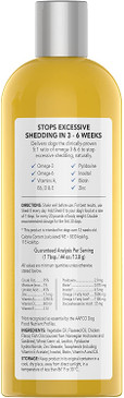 Shed-X Dermaplex Liquid Daily Supplement for Dogs – 100% Natural – Eliminate Excessive Shedding with Daily Supplement of Essential Fatty Acids, Vitamins and Minerals - 16oz