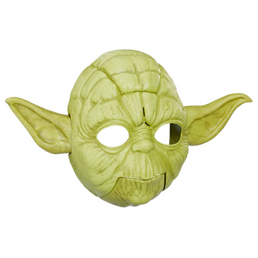 Star Wars Toys Electronic Yoda Mask - Open Your Mouth While Wearing to Hear Some of Yoda's Famous Lines - Great Mask for Kids and Adults - Adjustable Straps Fit Most People - Pair with Baby Yoda Toy