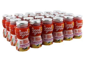 good2grow Fruit Blend Juice Bottles, 6-Ounce Good2grow Refills, 24 Pack - 22% Less Sugar Than 100% Juice, non-GMO, BPA-Free, Good Vitamin C Source - Use with Spill-Proof Good2grow Toppers