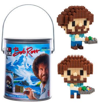 Pix Brix Pixel Art Puzzle Bricks – Bob Ross Pixel Puzzle – Patented Colorful Building Bricks, Create 2D and 3D Builds Without Water, Iron or Glue – A Fun Pixel Art Set for Adults and Kids