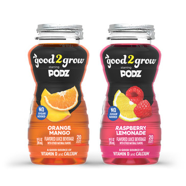 good2grow Flavored Water Refill Variety 24 Pack,10-Ounce BPA-Free Bottles No Sugar Added, Good Source of Vitamin D, Calcium, Use with Spill-Proof Character Toppers