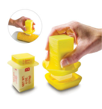 FusionBrands ButterEasy Butter Spreader and Butter Stick Holder – The Simple Way to Spread Butter – Easily Spread Butter on Cookware, Baking Dishes, Corn, Toast and Other Warm Foods