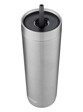 Contigo Luxe Stainless Steel Tumbler with Spill-Proof Lid and Straw | Insulated Travel Tumbler with No-Spill Straw