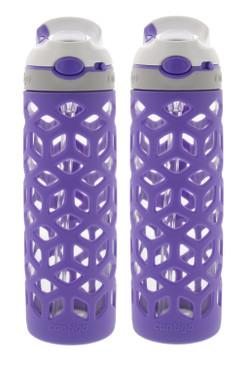 Contigo AUTOSPOUT Straw Ashland Glass Water Bottle w/Silicone Sleeve - BPA Free & Top Rack Dishwasher Safe – Tasteless & Odorless Drinking - Great for Sports, Gym, Home, Travel