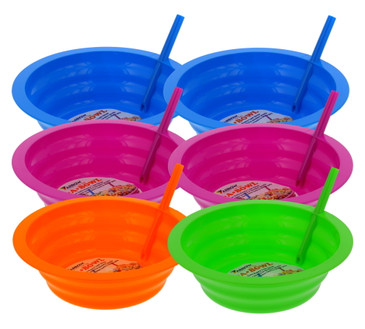 Arrow Sip-A-Bowl Set, Built-In Straw - 22-Ounce Reusable Bowls Stop Liquid Spills: Cereal Milk, Ice Cream - Makes Breakfast/Snack Time Easy - Dishwasher Safe