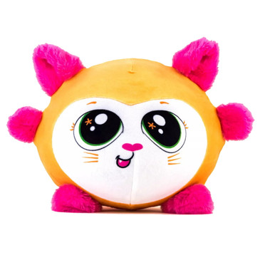 Fuzzy Wubble - Bee Bee the Cat - Wubble Balls on the Inside and Adorable Soft, Fuzzy Plush Animals on the Outside - Inflatable Squishy Toys for Kids to Cuddle and Bounce