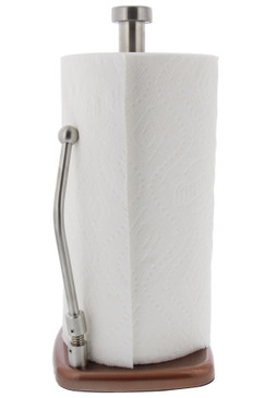 Cuisinart Stainless Steel Paper Towel Holder with Adjustable Supportive Arm for Tear Assistance, Countertop Paper Towel Dispenser, Fits Any Size Kitchen Towel Roll