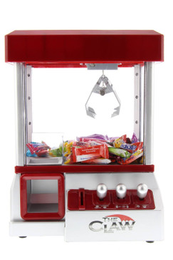 Mini Claw Machine For Kids – The Claw Toy Grabber Machine is Ideal for Children and Parties, Fill with Small Toys and Candy – Claw Machines Feature LED Lights, Loud Sound Effects and Coins
