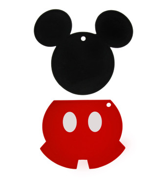 Disney Mickey Mouse 100% Silicone Trivets, 2pk - Multipurpose Flexible Kitchen Tools that Serve as Pot Holders, Spoon Rest, Jar Opener, or Heat Resistant Hot Pads up to 500° F