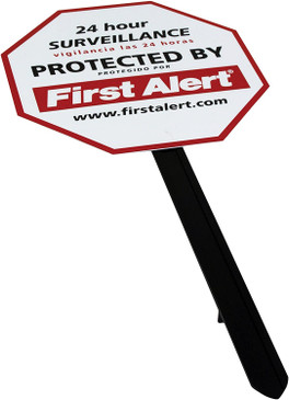 First Alert Video Security Surveillance Yard Sign - Durable, Weather Resistant Video Surveillance Sign to Deter Intruders- with Yard Stake