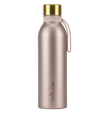 Reduce Water Bottle – Hydro Pure – Features a Purifying Lid, Body, Carry Strap – Stay Healthy and Hydrated On-The-Go, 36 Hours Cold – Stainless Steel Body, Copper Lid