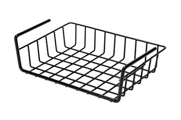 SnapSafe Hanging Shelf Document Basket - Coated Wire Basket Maximizes Storage for Documents, Gun Accessories, & Ammo - Easy Access Under Shelf Storage for Gun Safes - Holds Up to 40 Pounds